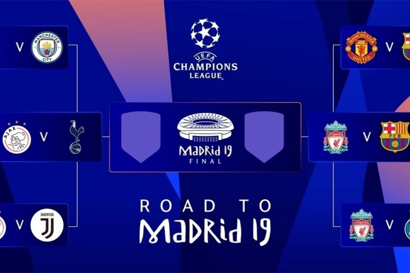 مواعيد مباريات الدور قبل النهائي لبطولة دوري أبطال أوروبا بين برشلونة ضد  ليفربول وتوتنهام ضد أياكس | اندبندنت عربية