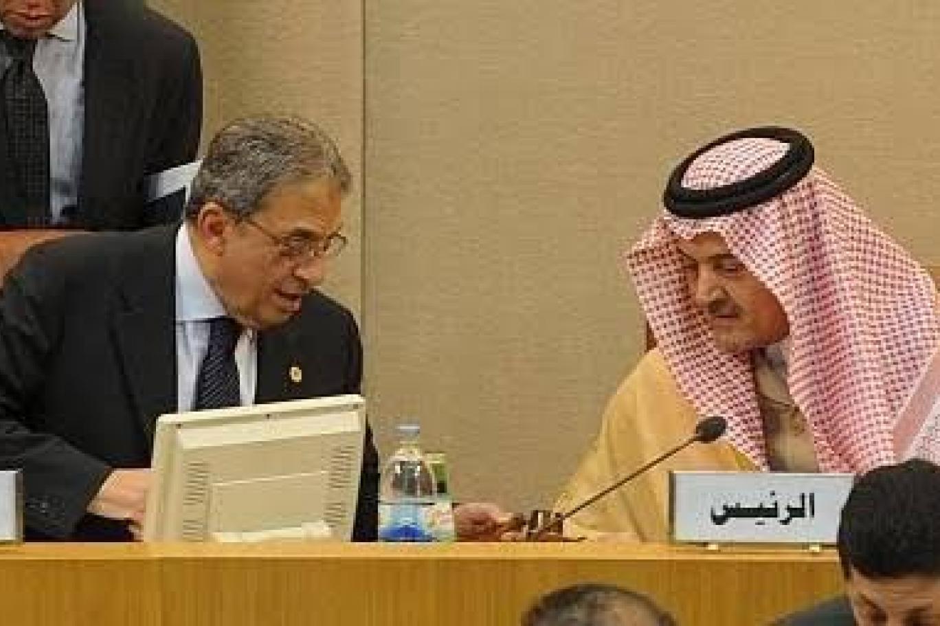 موسى والفيصل في إحدى اجتماعات جامعة الدول العربية (أرشيف السيد عمرو موسى)