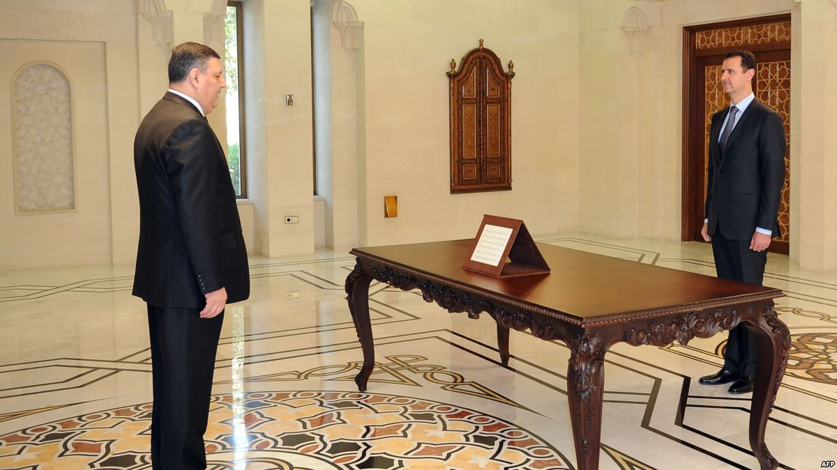 Bashar AlAsad and Riyad Hjab.jpg