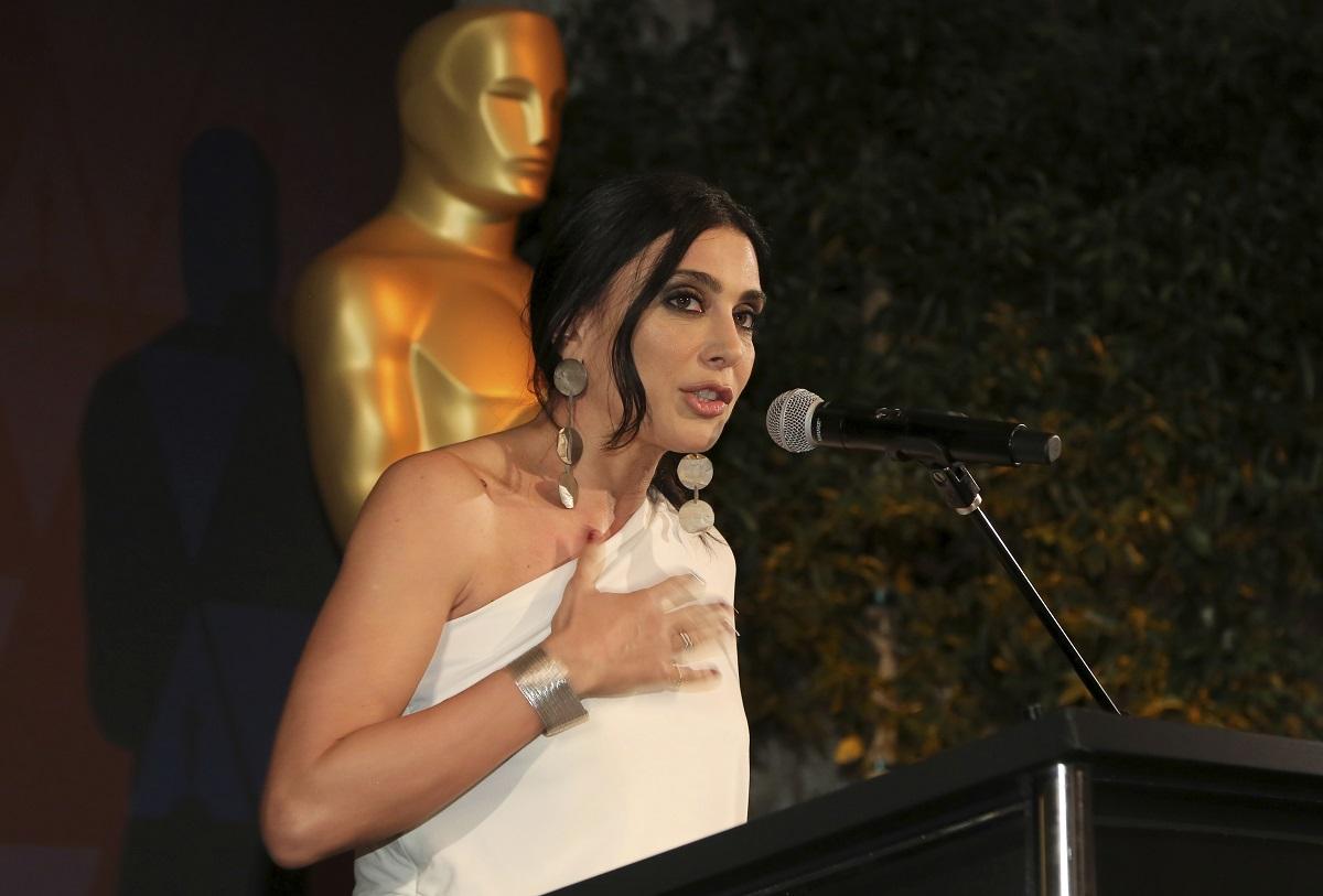 نادين لبكي تتحدث في حفل توزيع جوائز الأوسكار رقم  91 (أ.ب)