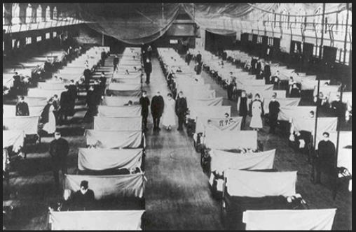 """دروس الانفلونزا الاسبانية مازالت مؤرقة (موقع """"ويكيميمديا.كوم"""")"""