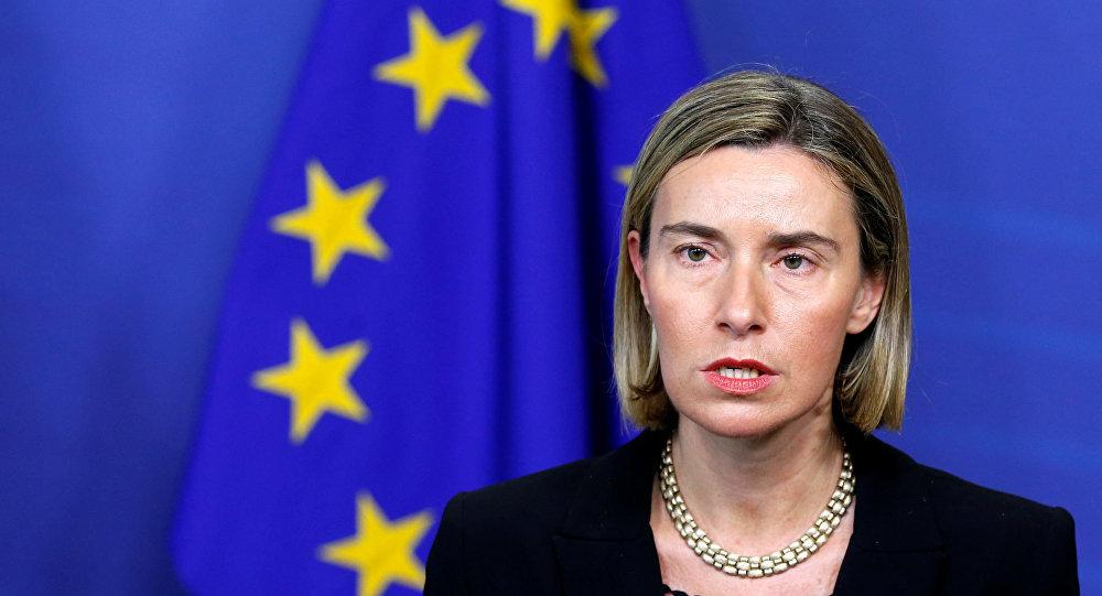فيديريكا موغيريني الممثلة الأعلى للسياسة الخارجية والأمنية بالاتحاد الأوروبي. (رويترز)