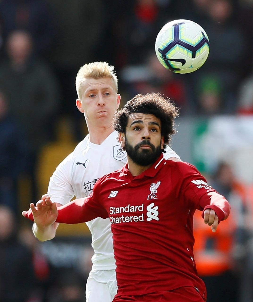 محمد صلاح خلال مباراة ليفربول مع بيرنلي، 10 مارس (آذار). (رويترز)
