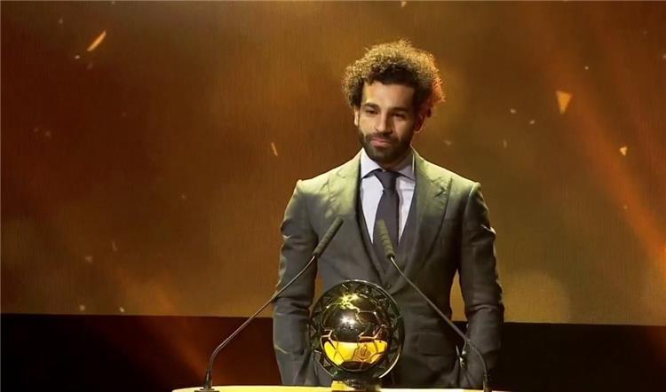 محمد صلاح بعد حصوله على جائزة أفضل لاعب في أفريقيا 2018. (وكيبيديا)