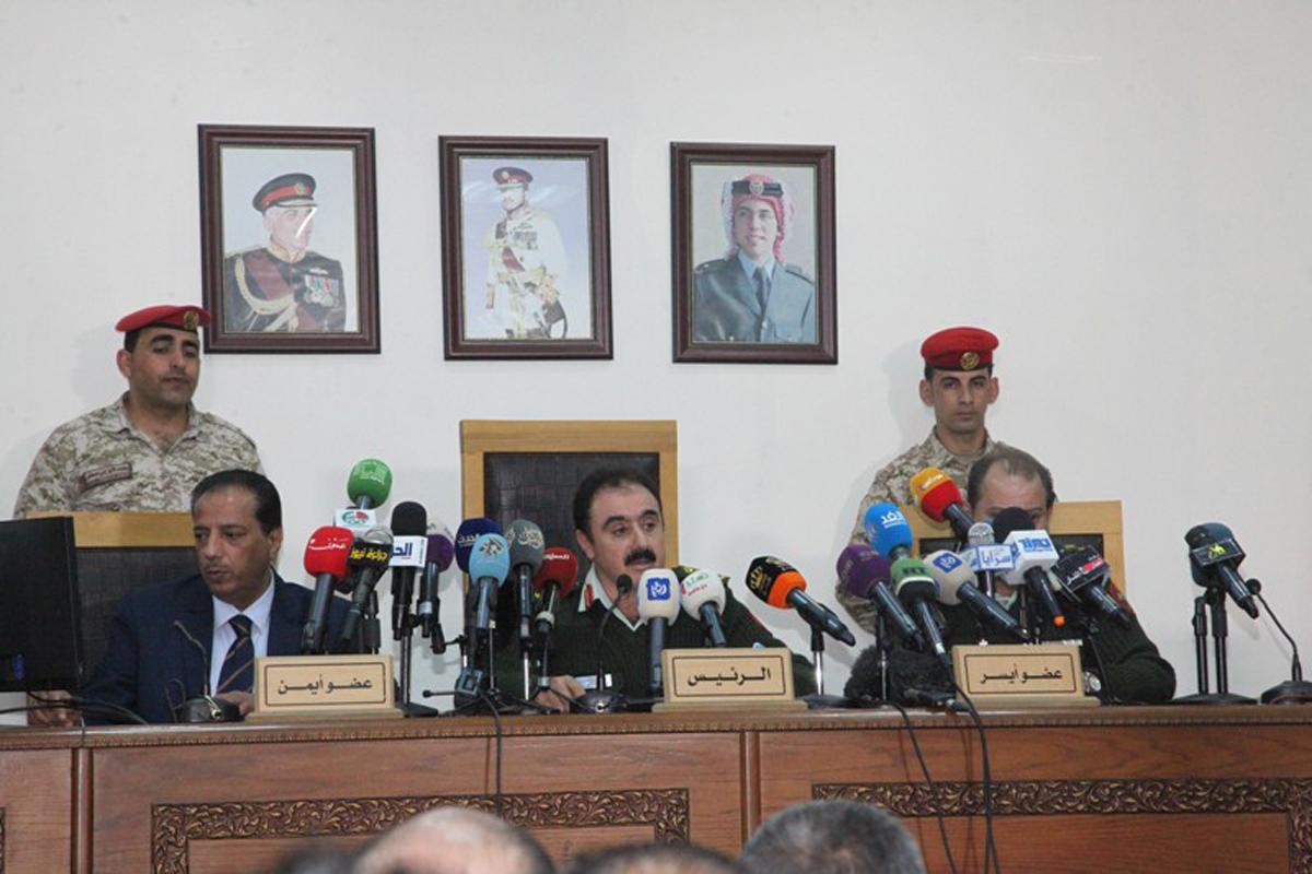 هيئة محكمة أمن الدولة الأردنية برئاسة القاضي محمد العفيف. (وكالة الأنباء الأردنية بترا)