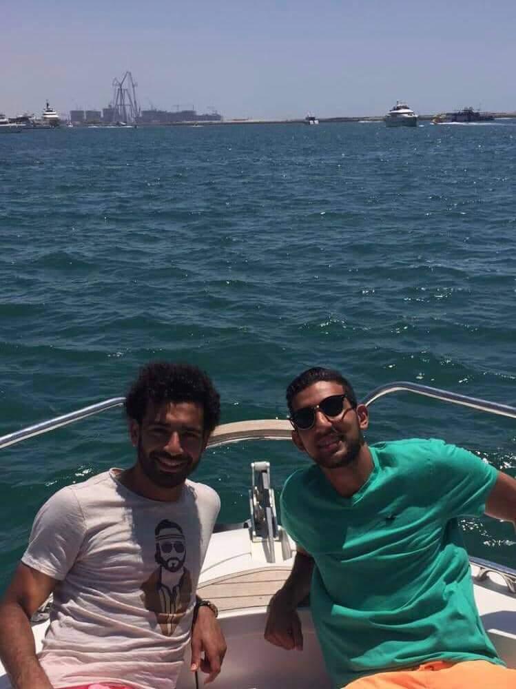 محمد صلاح وكوكا صداقة لأكثر من 10سنوات. (الألبوم الخاص بكوكا. إندبندنت عربية)