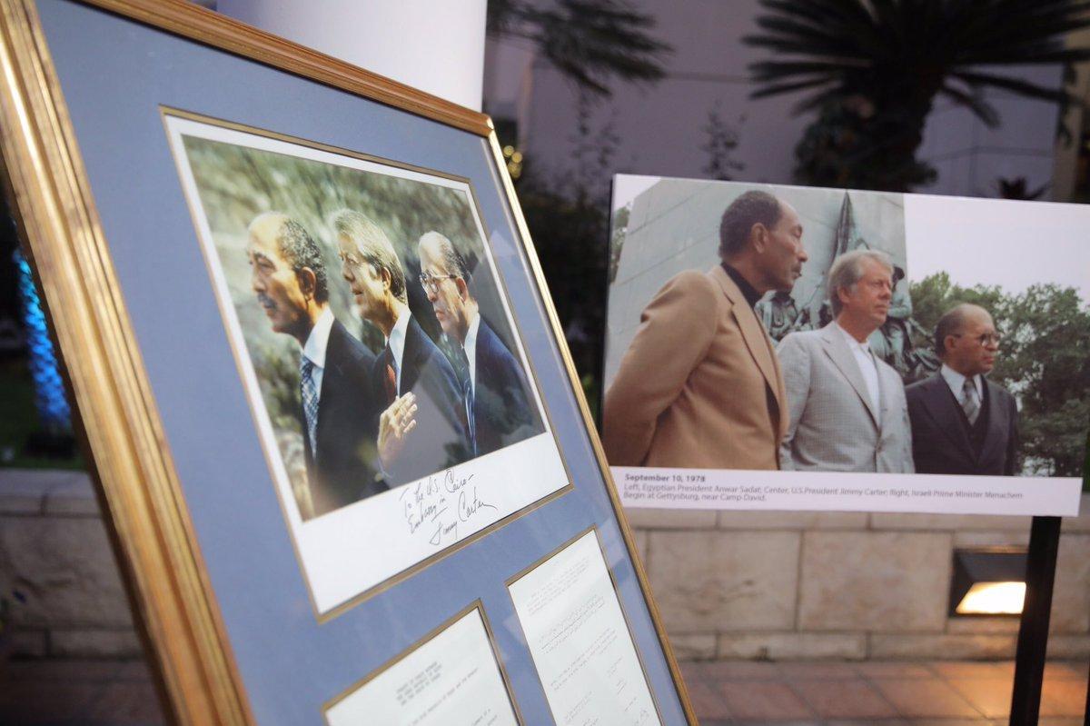 القائم بأعمال السفير الأميركي في القاهرة توماس جولدبرجر أثناء الاحتفال بالذكرى الأربعين لمعاهدة السلام المصرية الإسرائيلية في السفارة الأميركية. (الموقع الرسمي للسفارة الأميركية بالقاهرة)