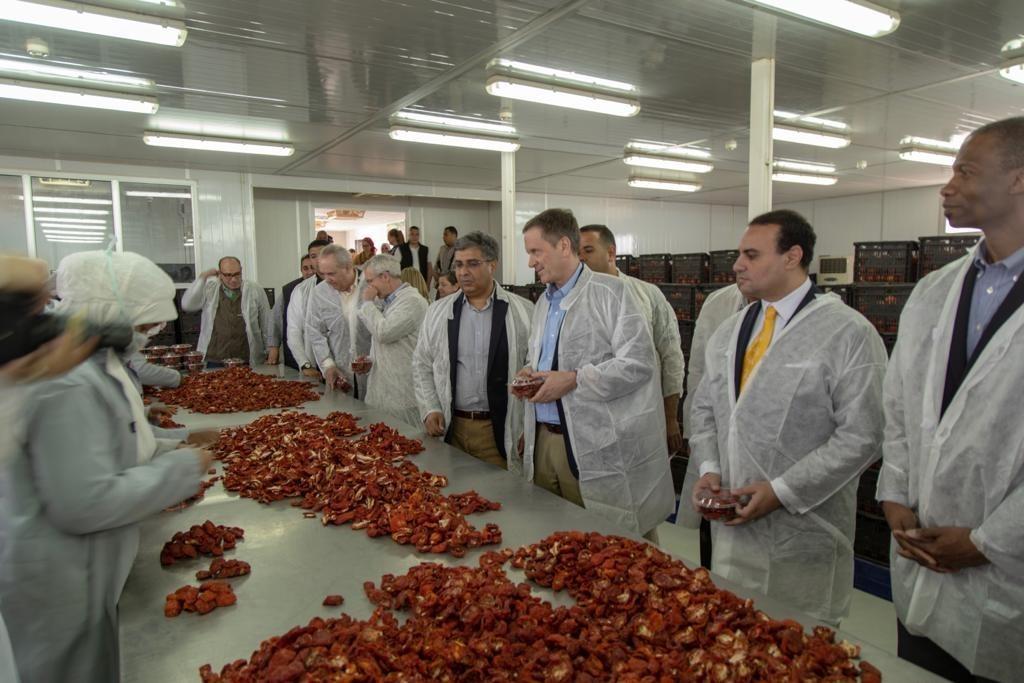 رئيس الوكالة الأميركية للتنمية الدولية يطلق مشروع الإنتاجية الزراعية في صعيد مصر. (الموقع الرسمي للسفارة الأميركية بالقاهرة)