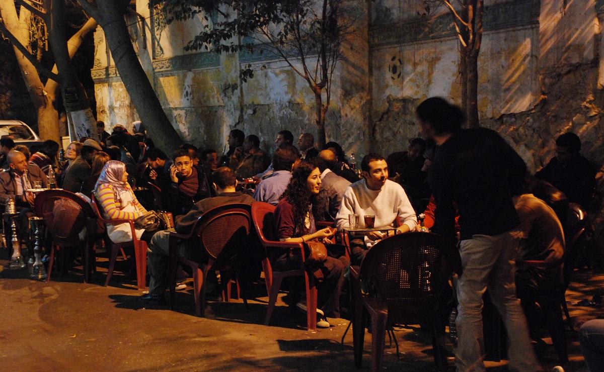 مقهى التكعيبة بوسط القاهرة (خاص.إندبندنت عربية)