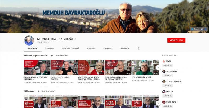 قناة ممدوح بايراكتار أوغلو على يوتيوب (إندبندنت تركية)
