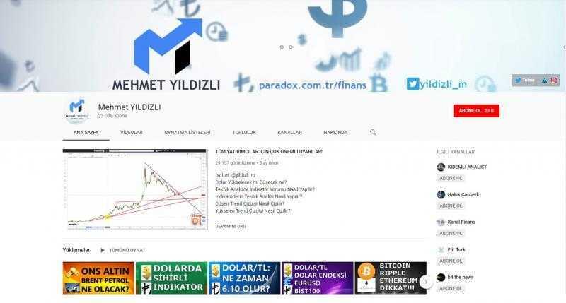 قناة الاقتصادي ميهمت يلدزلي على يوتيوب (إندبندنت تركية)