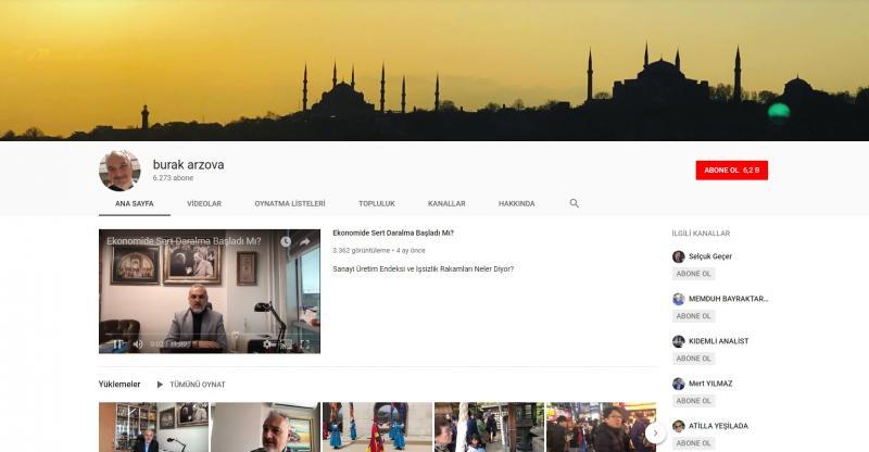 قناة البروفيسور الدكتور براق أرزوفا على يوتيوب (إندبندنت تركية)