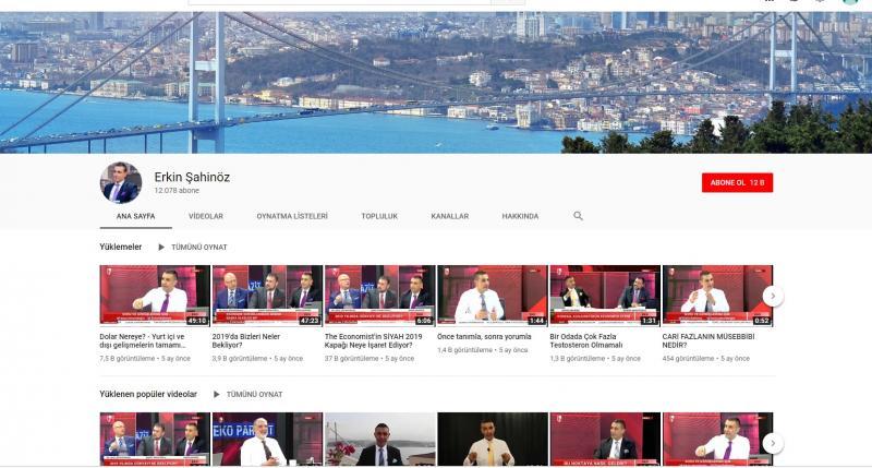 قناة أركين شاهينوز على يوتيوب (إندبندنت تركية)