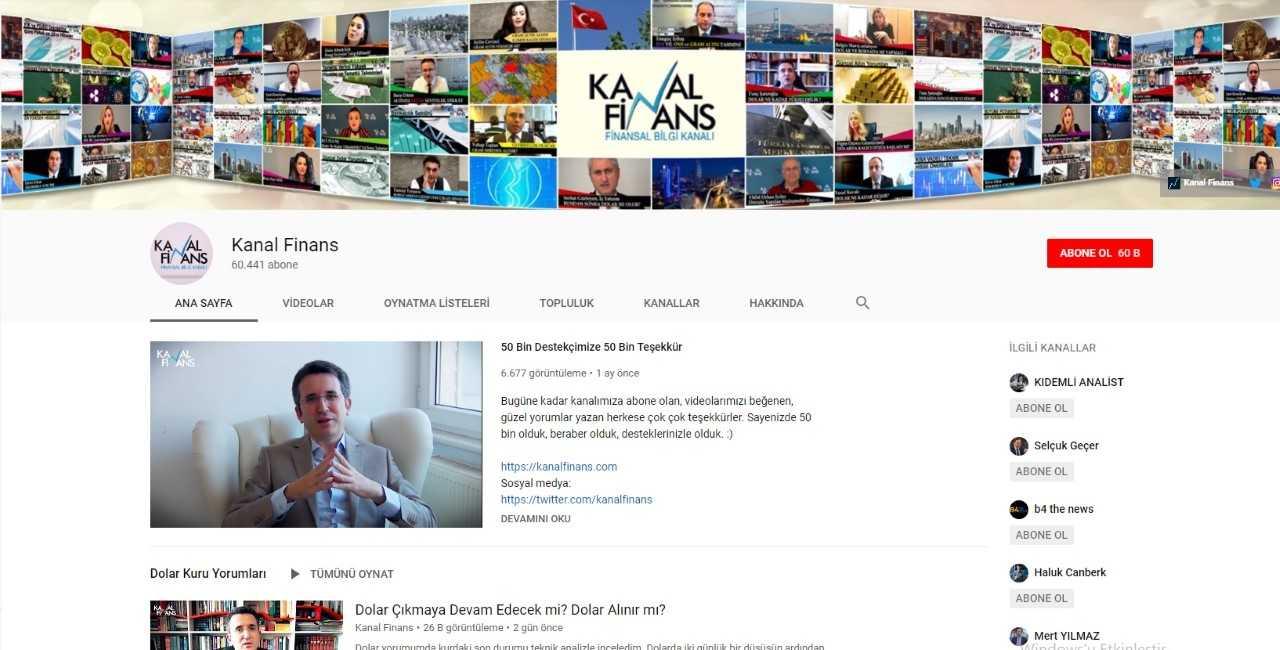 قناة كانال فينانس على يوتيوب (إندبندنت تركية)