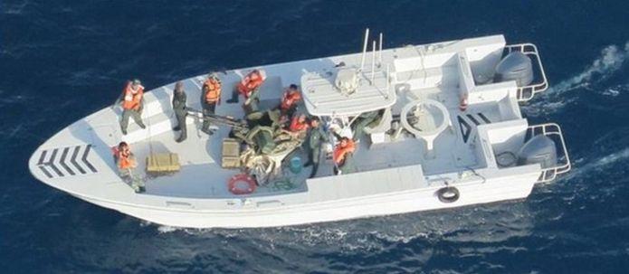 صورة للمركب الإيراني (وزارة الدفاع الأميركية)