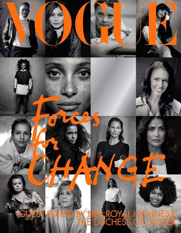 رائدات التغيير على غلاف مجلة فوغ لشهر أغسطس (آب) خلال تولي دوقة ساسيكس رئاسة التحرير شرفيا (رويترز)