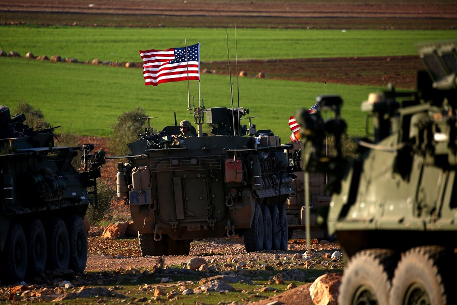 دورية أميركية على الحدود السورية التُركية، مصدر الصورة رويترز.jpg
