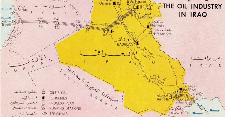 خريطة توضيحية لخط أنبوب نفط كركوك بانياس التاريخي، مصدر الصورة الفيسبوك.jpg