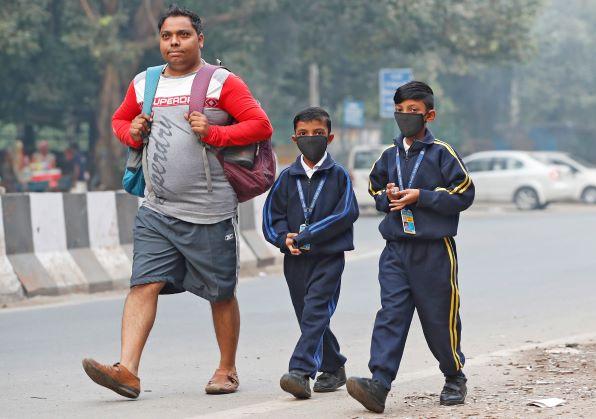من مظاهر تأثر الناس وحياتهم اليومية بتلوث الهواء في الهند