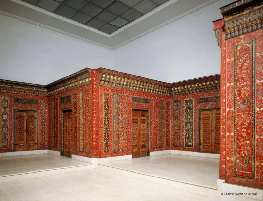 خشبيات الغرفة الحلبية في متحف برلين للفن اللإسلامي (مواقع التواصل الاجتماعي)