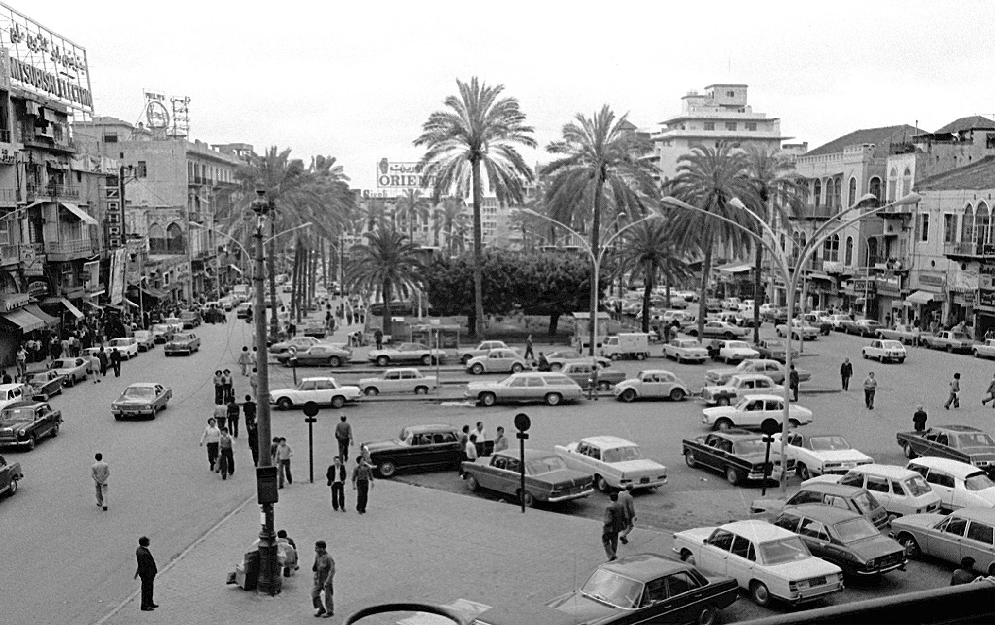 وسط العاصمة اللبنانية بيروت قبل اندلاع الحرب الأهلية (أ.ف.ب)