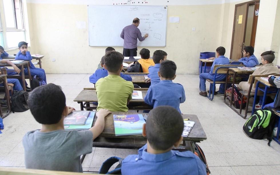احد الصفوف الدراسية داخل مدرسة حكومية في العاصمة عمّان تصوير صلاح ملكاوي.jpg