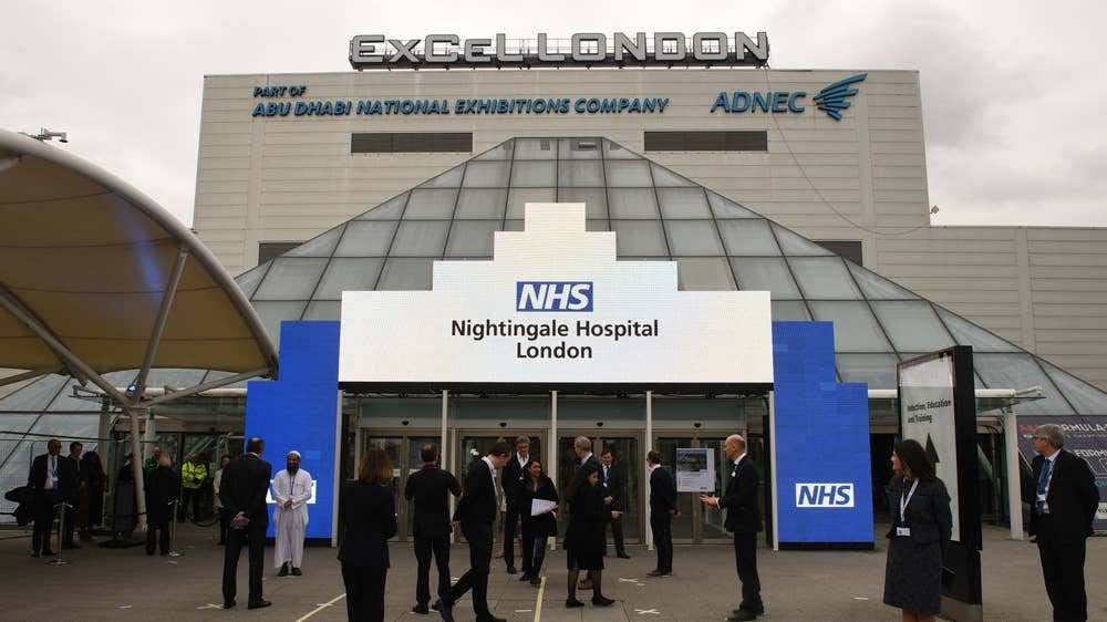 (AP) أول مستشفى ميداني في بريطانيا لاستقبال مرضى كورونا.jpg