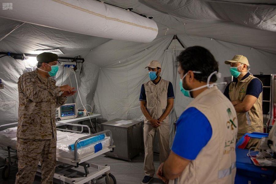 القوات المسلحة تساهم في إنشاء المستشفيات الميدانية بالسعودية(واس).jpg