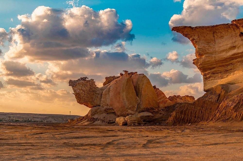 صخرة الجمل في منطقة تبوك شمال السعودية.(واس).jpg