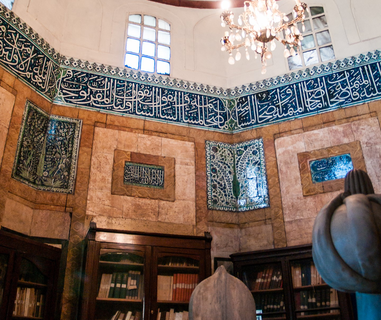 ألواح القاشاني في جامع الدرويشية (Syria Photo Guide - Daniel Demeter)