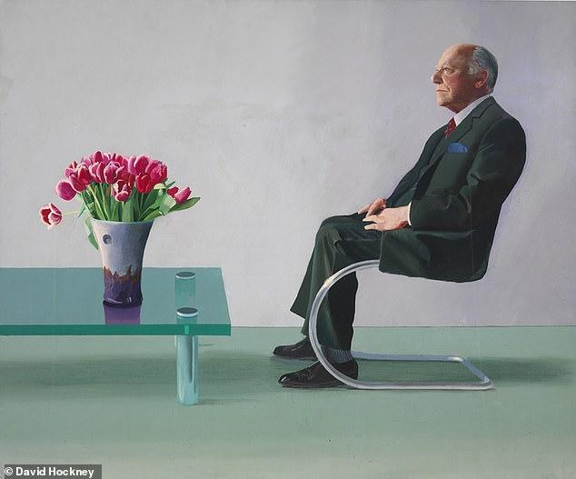 بورتريه ديفيد ويبستر للفنان التشكيلي البريطاني ديفيد هوكني
