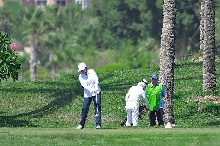 من تدريبات أول بطولة دولية للجولف في السعودية (الاتحاد السعودي للجولف)