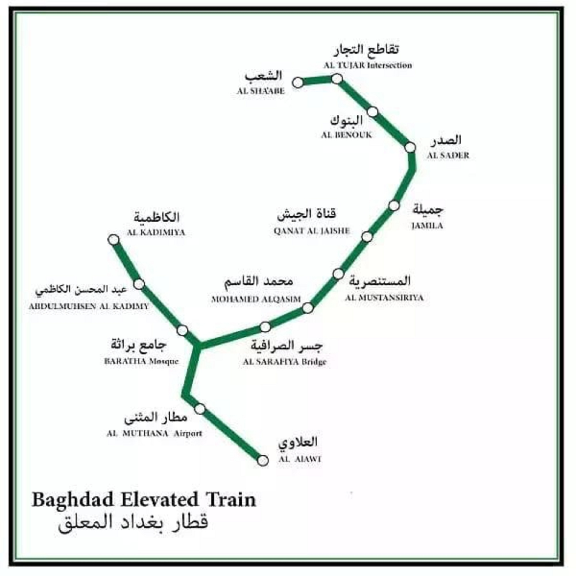 Baghdad Sky Train Track (Iraqi Ministry of Transport)