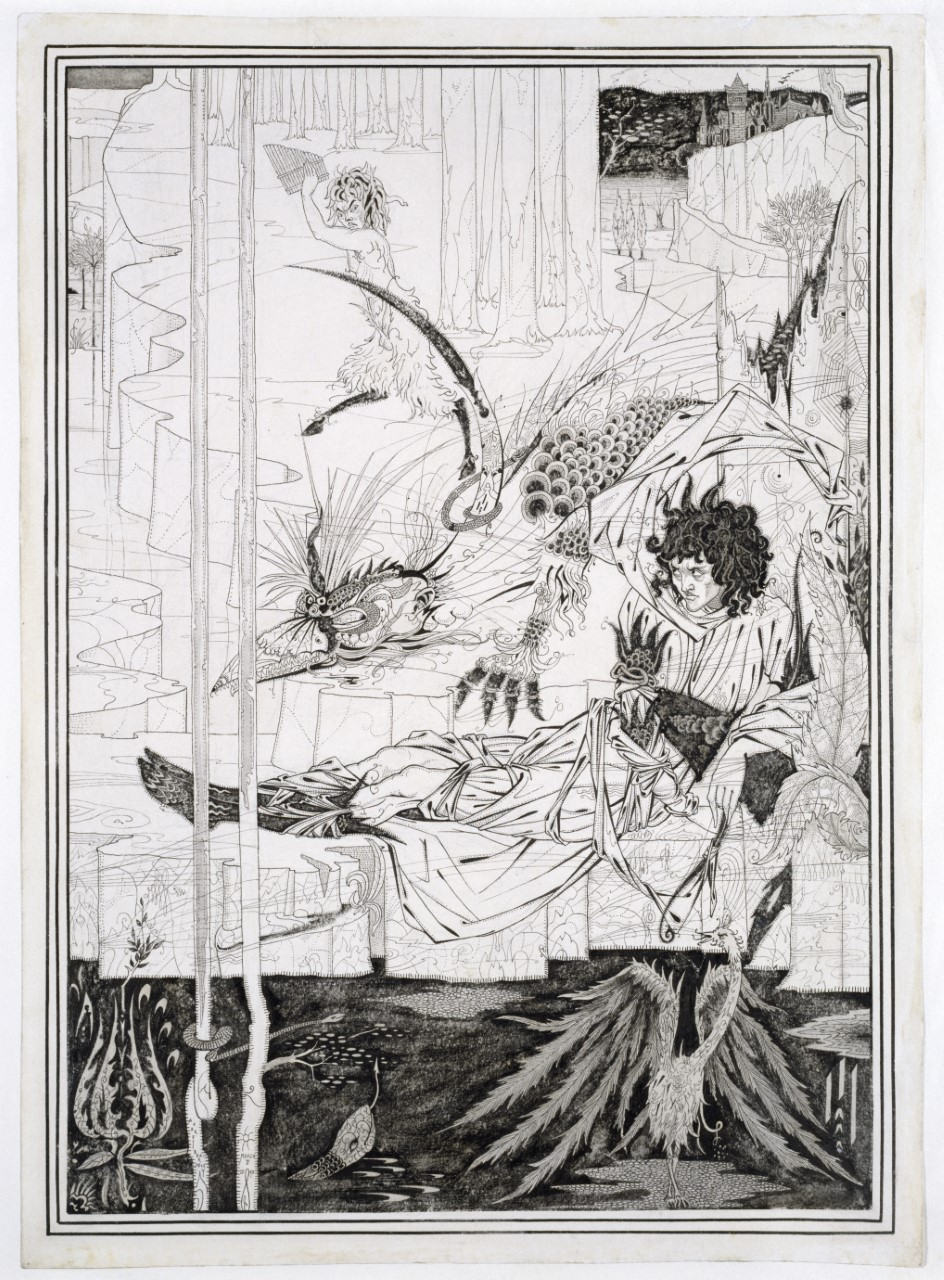 thumbnail_07. Beardsley - How King Arthur Saw the Questing Beast, and thereof had Great Marvel.jpg