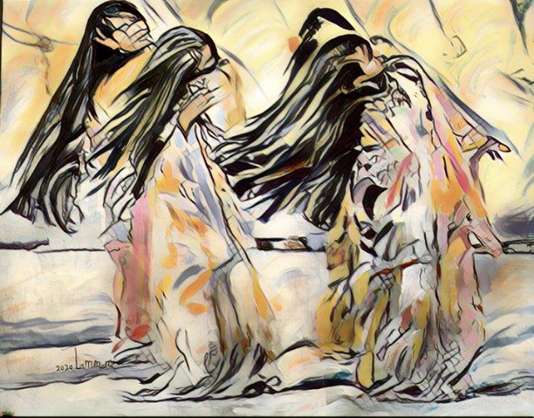 """تشكل المرأة في مجموعة """"ضجيج المساكن"""" أهمية كبرى لدى الفنان السعودي.(اندبندنت عربية)"""