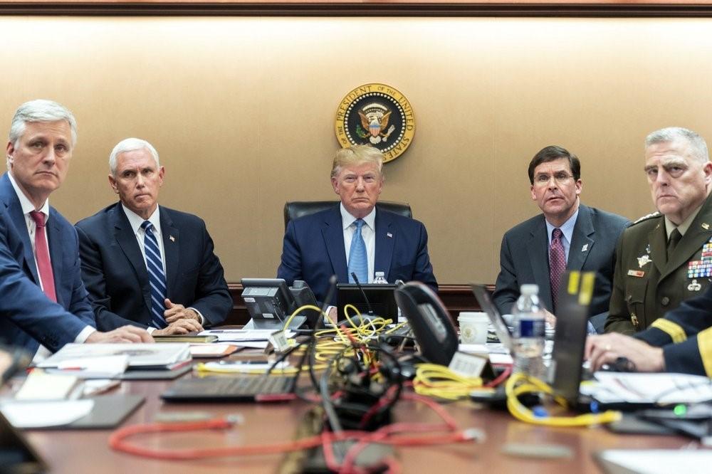 الرئيس الأميركي وهو يتابع عملية قتل البغدادي.(أ.ب).jpg