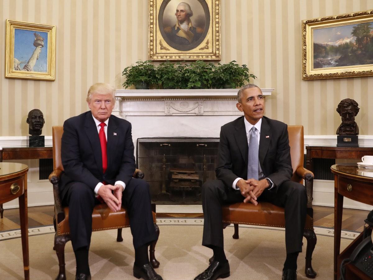 أوباما يلتقي ترمب بعد فوزه بالانتخابات. (أ.ب).jpg