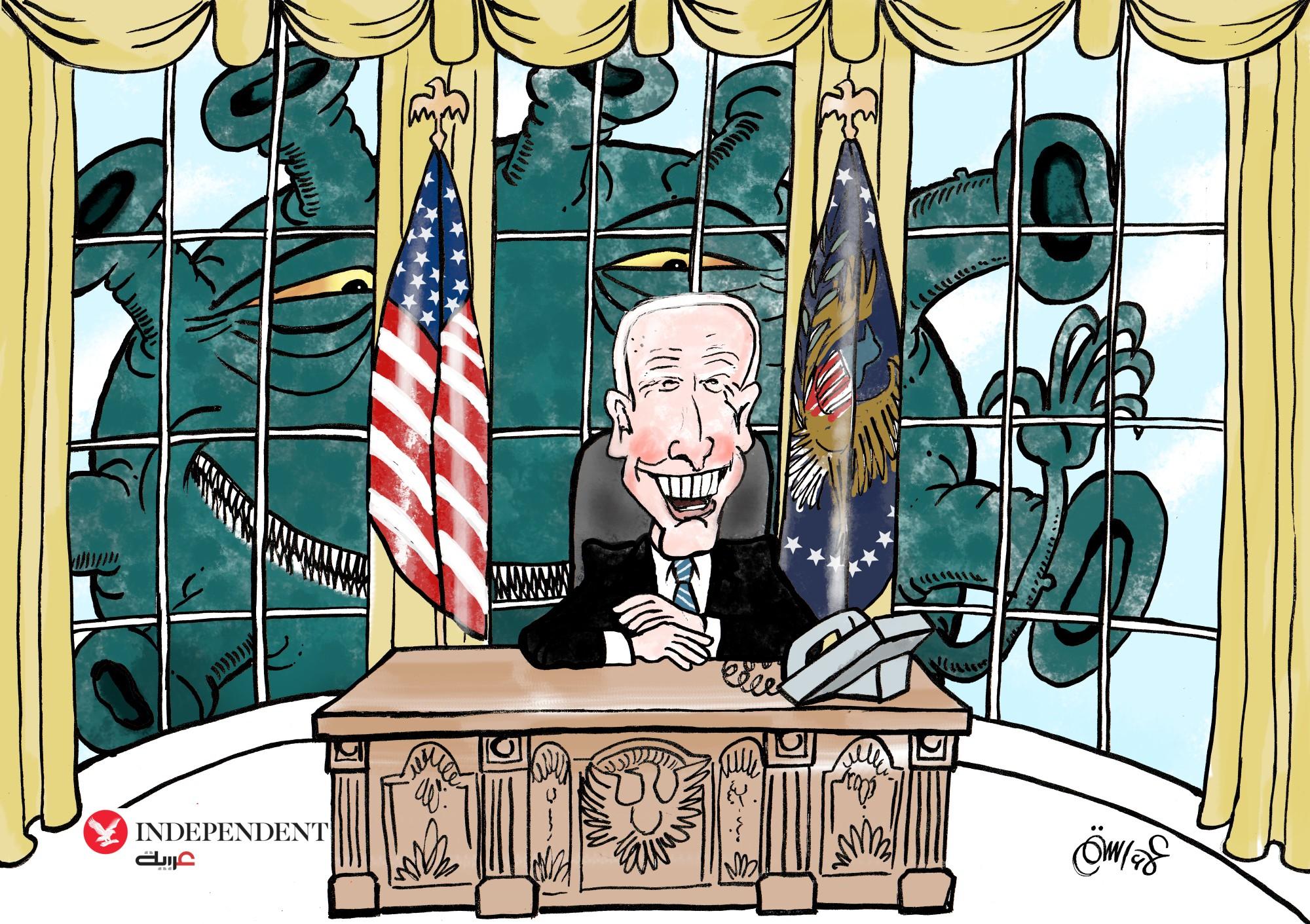 تعهد الرئيس الأميركي جو بايدن بتوفير 100 مليون جرعة من لقاحات كورونا في المئة يوم الأولى من ولايته (علاء رستم - اندبندنت عربية)