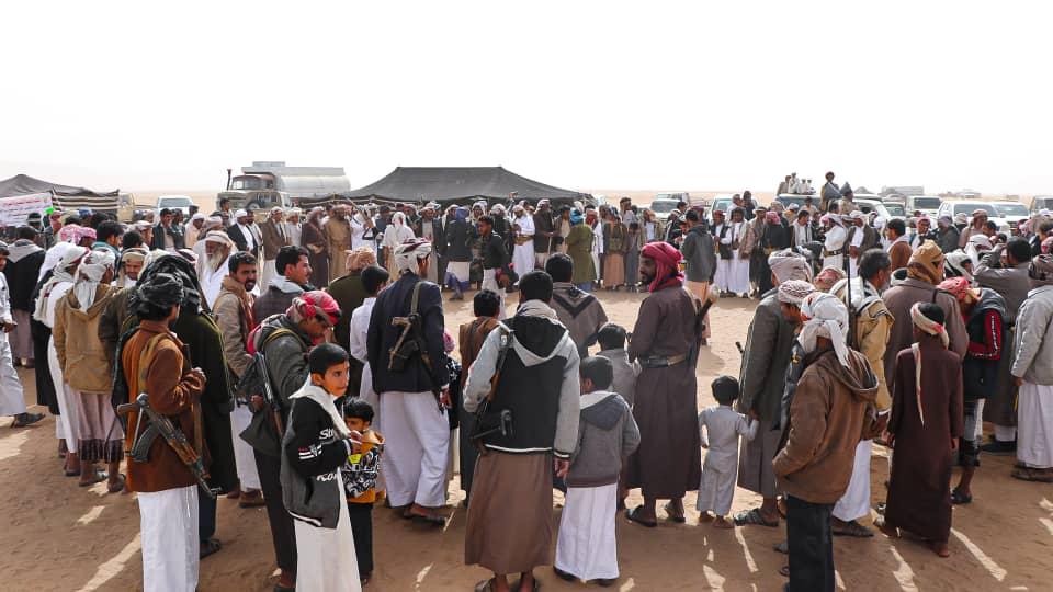 جموع حاشدة من أبناء القبائل اليمنية حرصت على حضور المهرجان التراثي.