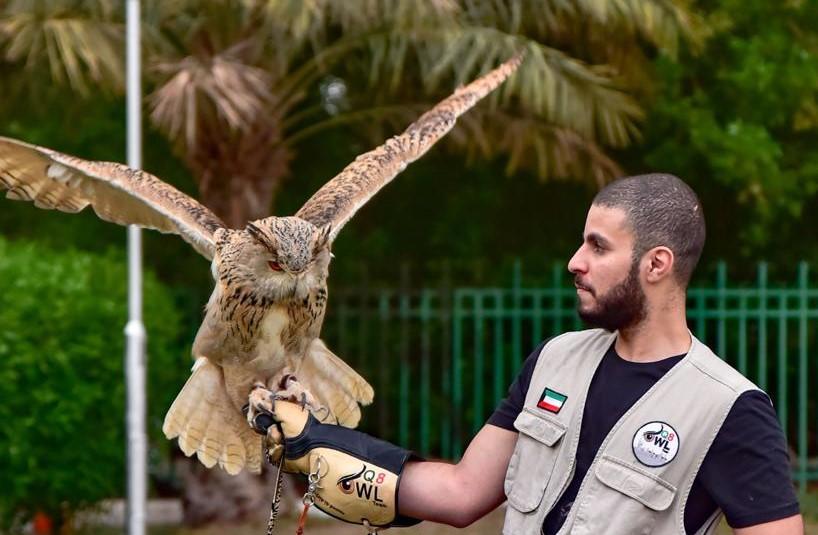 أحمد العطيه عضو في فريق البوم التطوعي