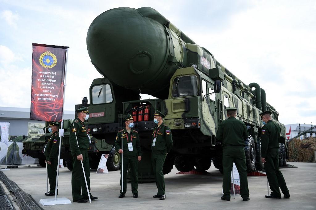 صواريخ توبول الباليستية الروسية العابرة للقارات. (أ ف ب).jpg