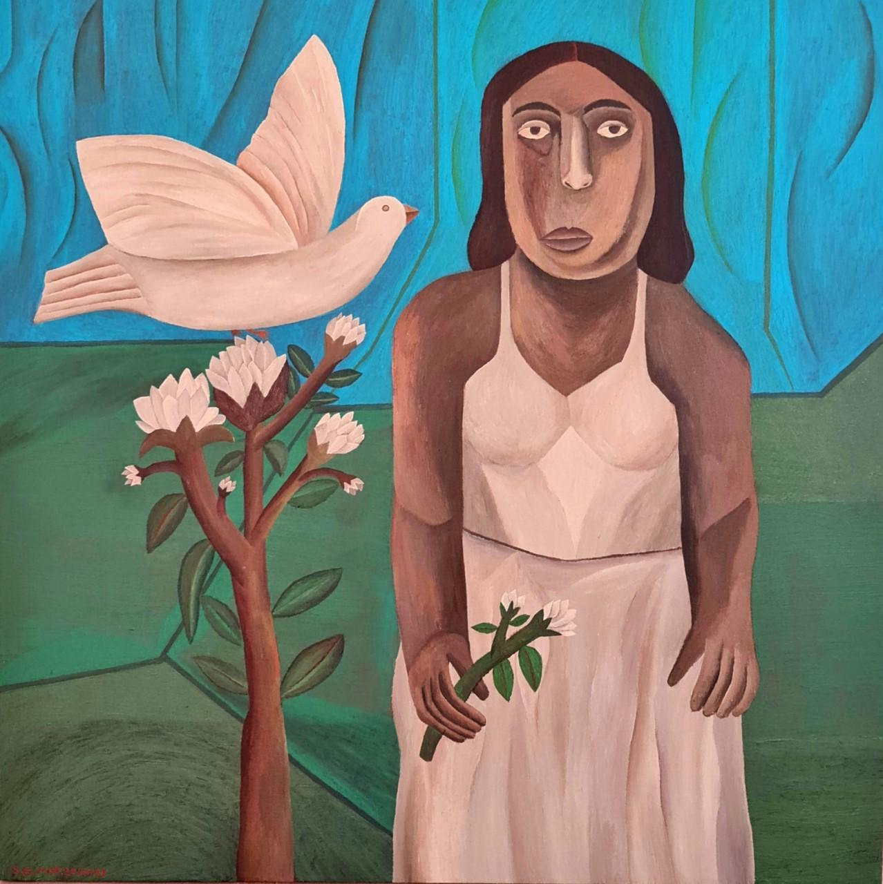 thumbnail_2. Salah Elmur, The White Dove, 2021, Courtesy of Circle Art Gallery..jpg