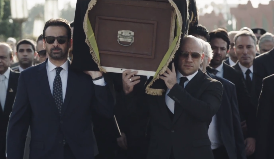 كريم عبد العزيز وأحمد مكي في مشهد من مسلسل الاختيار 2 الصفحة الرسمية فيس بوك للمسلسل.png