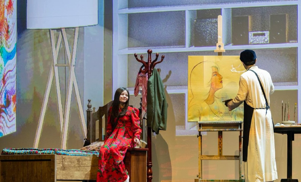 """مسرحية """"درايش النور"""" التي أقامها المسرح الوطني أحد الأذرعية المسرحية الحكومية (وزارة الثقافة السعودية)"""
