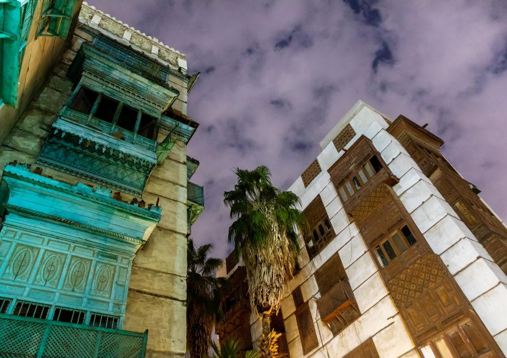 أشهر المباني في حارة الشام بجدة التاريخية (غيتي)