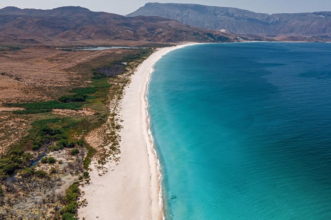 شواطئ أرخبيل سقطرى في اليمن (أ ف ب)