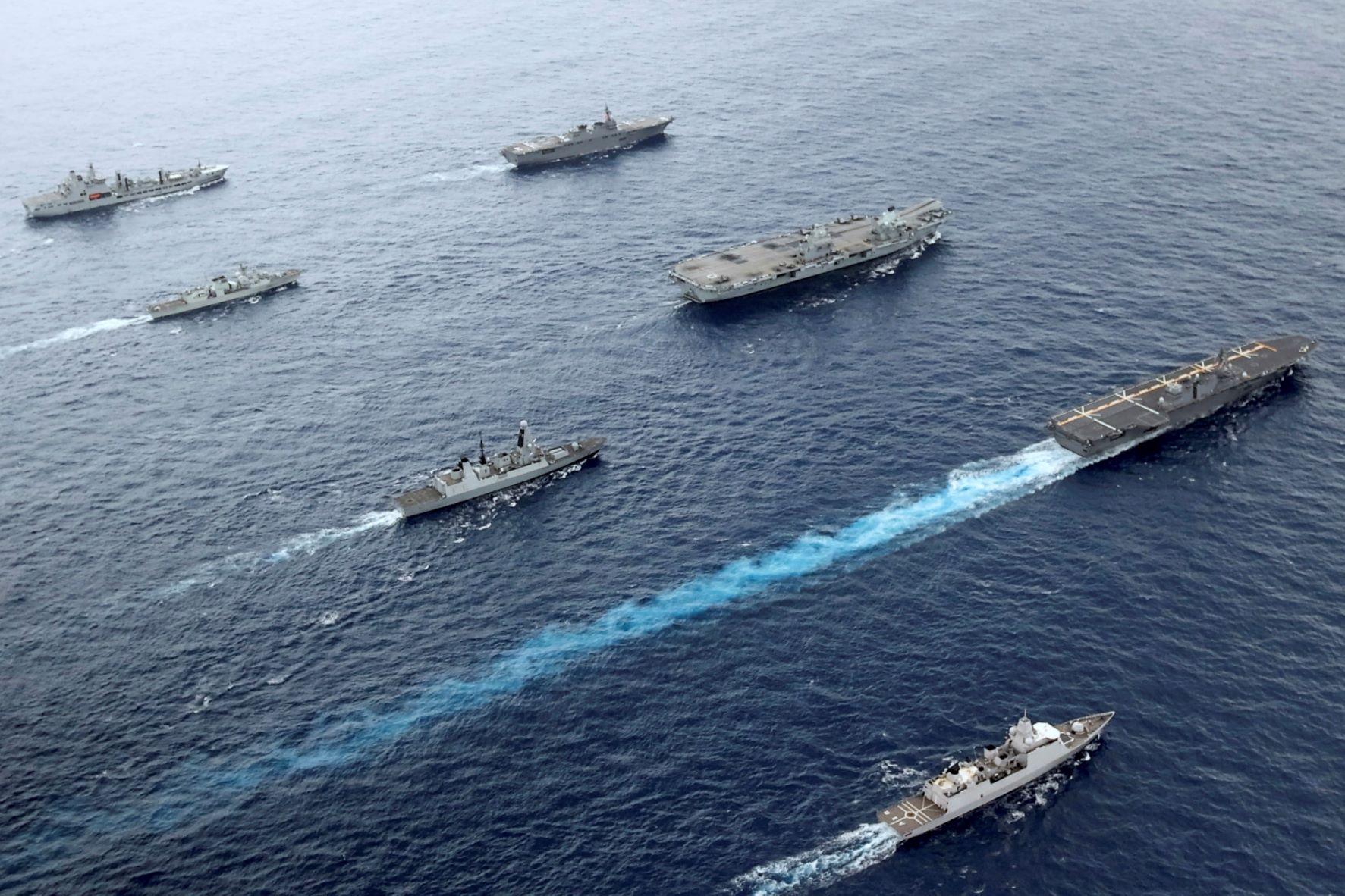 """تكاثرت المناورات البحرية الغربية في المحيطين الهادئ والهندي بعد توقيع اتفاق """"أوكوس"""""""