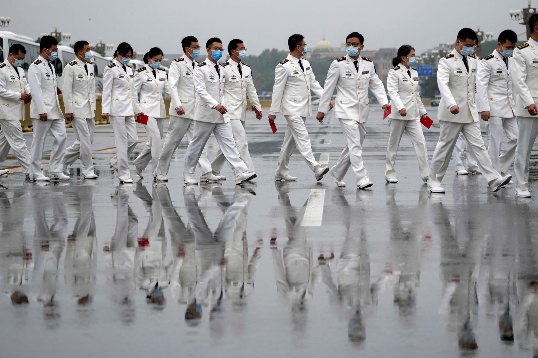 عمل الحزب الشيوعي الصيني بدأب على بناء قوة عسكرية متطورة